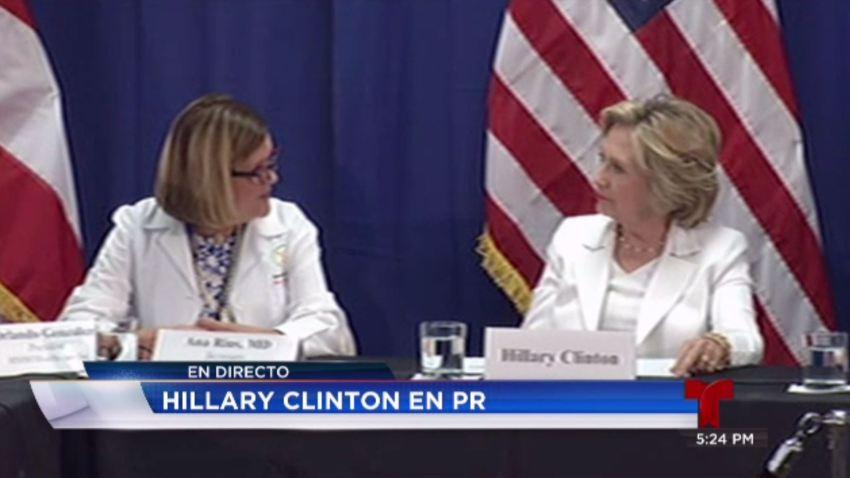 Clinton secretaria salud telenoticias