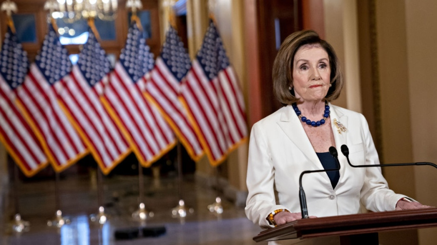 La presidenta de la Cámara de Representantes, Nancy Pelosi, demócrata de California