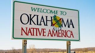 Pancarte de bienvenidos a Oklahoma