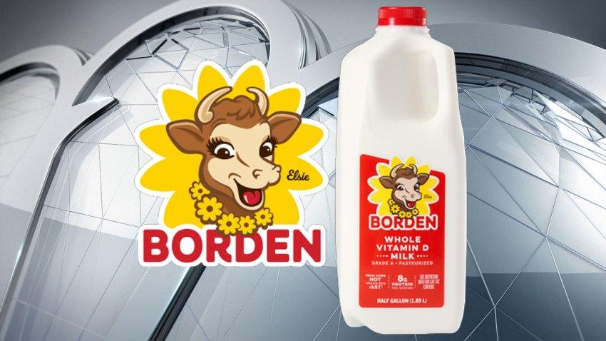 borden logo, milk