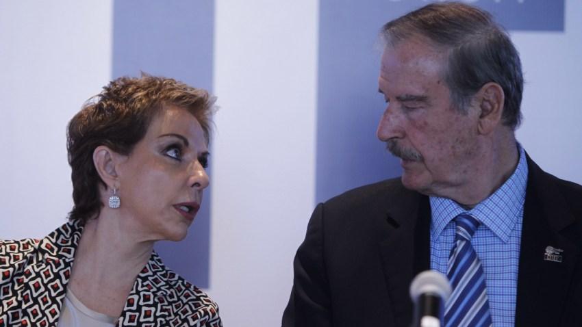 Mara Sahagún y su esposo, el expresidente Vicente Fox.