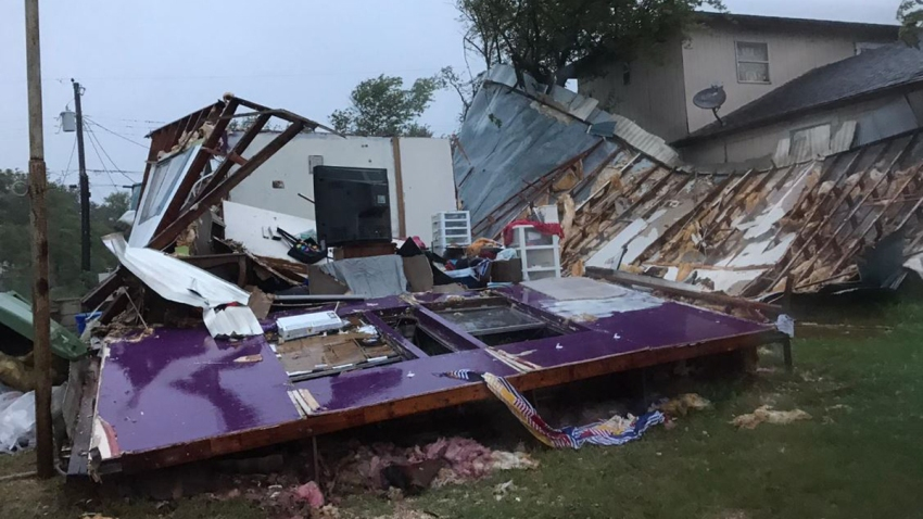 casa destrozada