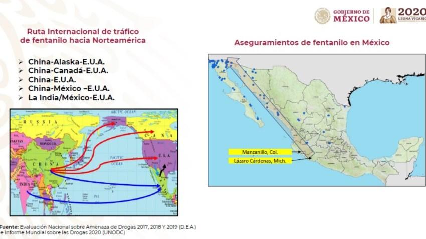 Ruta del fentanilo a México