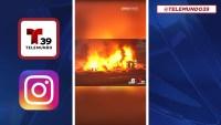 Contigo primero: Incendio destruye zona de apartamentos