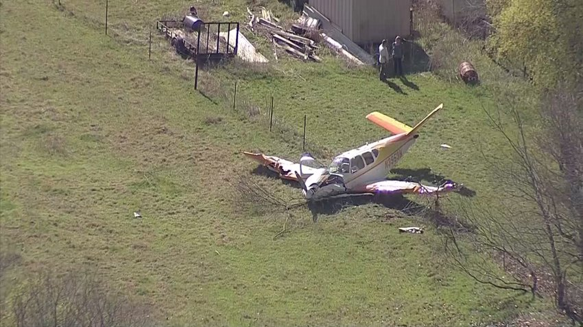 Fire and rescue crews are working a small plane crash near the Bridgeport Municipal Airport in Wise County.