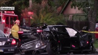 A crash scene in West Los Angeles.