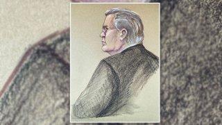 Ruel Hamilton in court, June 15, 2021.