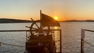 An engineering student is living out his dream by building a pirate ship on Possum Kingdom Lake.