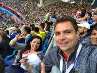Cubriendo el partido Brasil vs Costa Rica