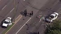 Dos camionetas, un auto y una patrulla colisionaron entre si. Se desconoce si era una persecución policial.
