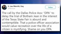 El Sindicato de Policías de Dallas argumentan que muchos policías estarán trabajando en al feria y si hay un veredicto no favorable para...