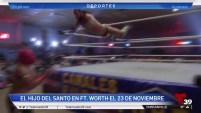 La leyenda el Hijo del Santo se presentará en cartelera de lucha libre en el metroplex a finales de noviembre.
