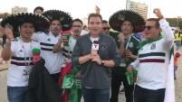 Una tremenda fiestas tras el triunfo de la Selección Mexicana 2 a 1 a Corea del Sur en el estadio de Kazan.