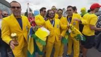 Los hinchas de ambas selecciones viajaron hasta la segunda ciudad más importante de Rusia para apoyar a sus selecciones.