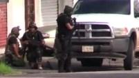 Un video muestra la balacera entre fuerzas de seguridad y sicarios del narco.