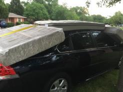 Residentes del norte de Texas tapan sus autos