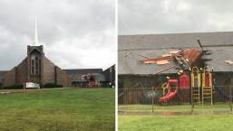 Fotos: Tormentas y fuertes vientos causan daños en el norte de Texas