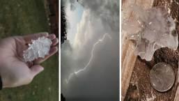 Inesperado en el norte de Texas: Granizo, rayos y tormentas