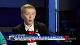 Niño de 12 anos dice apoyar a Trump