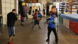 Programa de boxeo de Casa Guanajuato en Oak Cliff