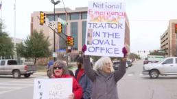 Protesta contra declaración de emergencia nacional