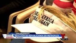 Republicanos en el Metroplex celebran a Trump