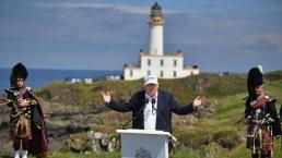 """El """"duende"""" que traspasó seguridad de Trump en Escocia"""