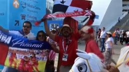 Fiesta en Sochi con el partido Panamá contra Bélgica