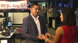 Reportera de Telemundo recibe sorpresiva propuesta de matrimonio