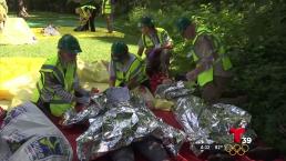 Simulacro muestra cómo actuar en emergencia