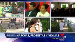 Marchas, protestas y vigilas tras decisión de inmigración