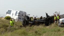 Camión de los Cowboys se accidenta, cuatro muertos