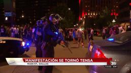Protestan contra la brutalidad policiaca en Dallas