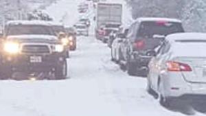 Acumulación de nieve en varios condados de Texas