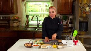 Ingredientes para preparar un rico Hummus de otoño