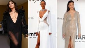 Top models impactan con escotes y transparencias en gala benéfica