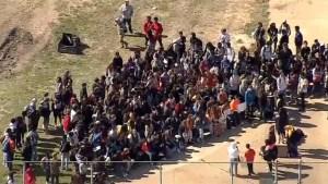 Estudiantes del Metroplex protestaron contra la violencia