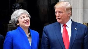 Trump y May intercambian elogios; buscan acuerdo comercial