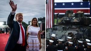 """Trump pide """"lealtad"""" y presume poderío militar de EEUU"""