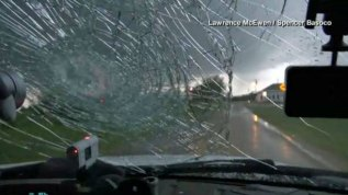 En video: bolas de granizo destruyen parabrisas