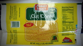 El maíz congelado, hecho por Bonduelle USA Inc. de Brockport (Nueva York), fue distribuido en bolsas que leen Wylwood Super Sweet Whole Kernel Corn, Market Basket Cut Corn, Bountiful Harvest Whole Kernel Corn y West Creek Frozen Vegetables.<br />