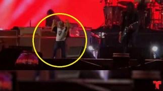 [TLMD - NATL] Se roba el show: niño de 5 años desatado en concierto de rock