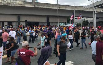 Bombazo al gobierno: trabajadores marchan en Hato Rey
