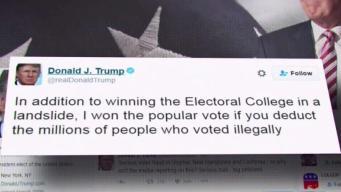 Trump dice que votos ilegales le quitaron el voto nacional
