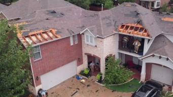 Imágenes muestran destrucción en comunidad de Fort Worth
