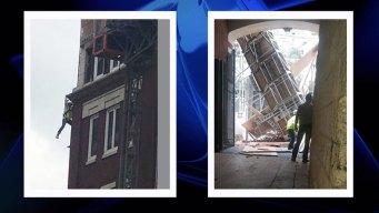 Tres heridos tras colapso de andamio en Fort Worth