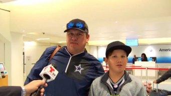 Aficionados de los Dallas Cowboys viajan a Los Ángeles