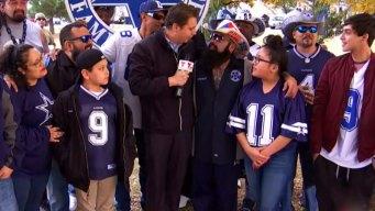 Fanáticos celebran día de Acción de Gracias con Dallas Cowboys