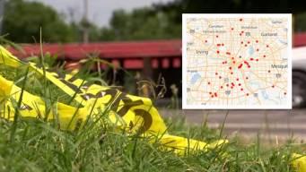 El recuento: ¿Dónde se han registrado los homicidios en Dallas?