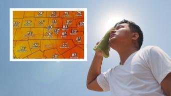 Emiten advertencia por calor para el Metroplex